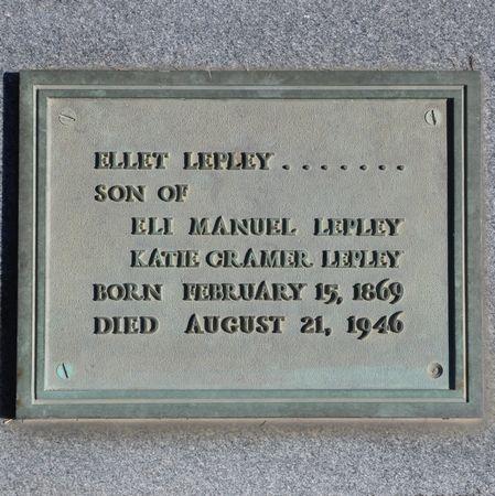 LEPLEY, ELLET - Grundy County, Iowa | ELLET LEPLEY