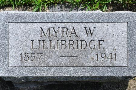 LILLIBRIDGE, MYRA W. - Grundy County, Iowa   MYRA W. LILLIBRIDGE