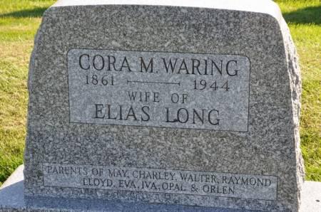 LONG, CORA M. (WARING) - Grundy County, Iowa | CORA M. (WARING) LONG