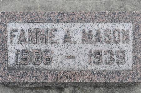 MASON, FANNIE - Grundy County, Iowa | FANNIE MASON