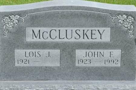 MCCLUSKEY, JOHN FRANCIS - Grundy County, Iowa | JOHN FRANCIS MCCLUSKEY