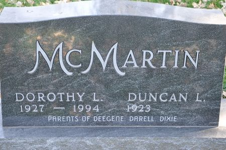 MCMARTIN, DOROTHY L. - Grundy County, Iowa | DOROTHY L. MCMARTIN