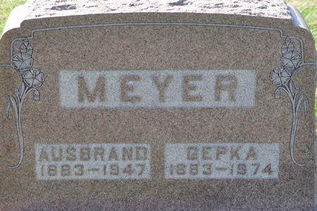MEYER, AUSBRAND - Grundy County, Iowa   AUSBRAND MEYER