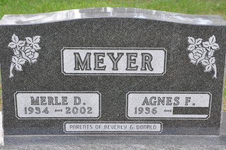 MEYER, MERLE D. - Grundy County, Iowa | MERLE D. MEYER