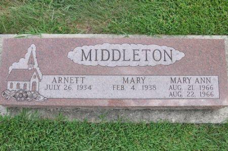 MIDDLETON, MARY ANN - Grundy County, Iowa | MARY ANN MIDDLETON