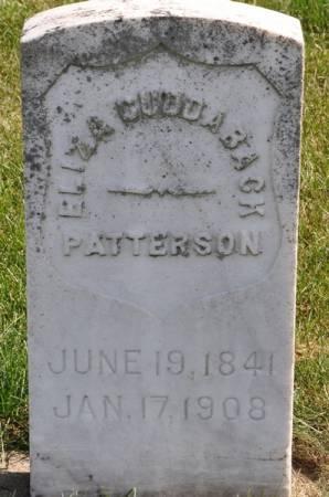 PATTERSON, ELIZA (CUDDABACK) - Grundy County, Iowa   ELIZA (CUDDABACK) PATTERSON