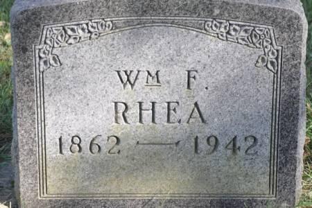 RHEA, WM F. - Grundy County, Iowa | WM F. RHEA