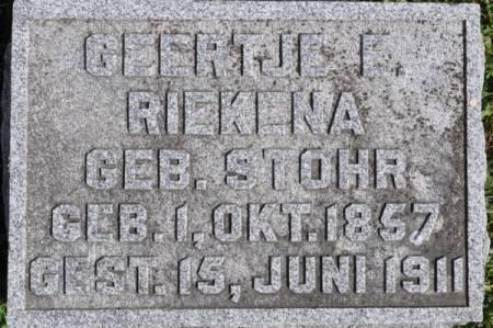 RIEKENA, GEERTJE E. (STOHR) - Grundy County, Iowa | GEERTJE E. (STOHR) RIEKENA
