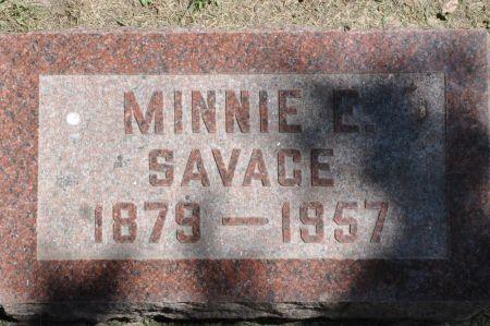SAVAGE, MINNIE E. - Grundy County, Iowa | MINNIE E. SAVAGE