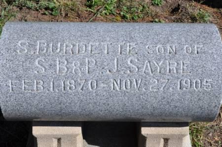 SAYRE, S. BURDETTE - Grundy County, Iowa | S. BURDETTE SAYRE