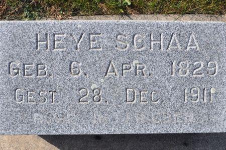 SCHAA, HEYE - Grundy County, Iowa | HEYE SCHAA