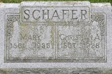 SCHAFER, CHRISTIAN A. - Grundy County, Iowa | CHRISTIAN A. SCHAFER
