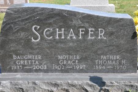 SCHAFER, THOMAS H. - Grundy County, Iowa | THOMAS H. SCHAFER