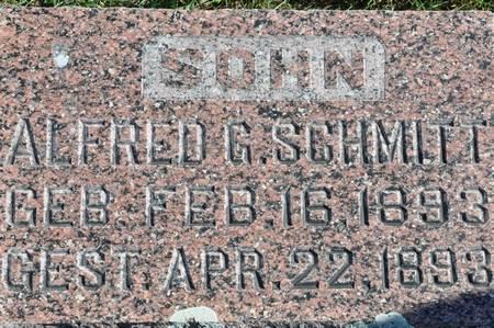 SCHMITT, ALFRED G. - Grundy County, Iowa   ALFRED G. SCHMITT