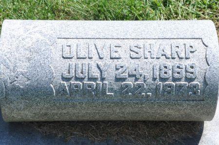 SHARP, OLIVE - Grundy County, Iowa | OLIVE SHARP