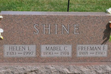 SHINE, MABEL C. - Grundy County, Iowa   MABEL C. SHINE