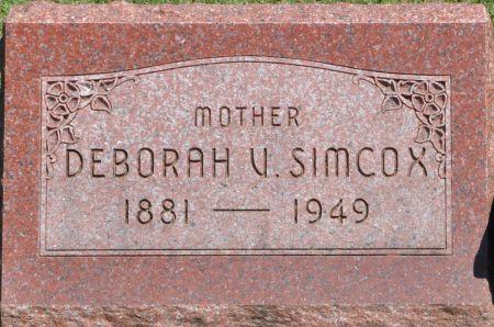 SIMCOX, DEBORAH V. - Grundy County, Iowa   DEBORAH V. SIMCOX