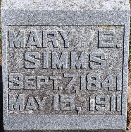 SIMMS, MARY E. - Grundy County, Iowa   MARY E. SIMMS