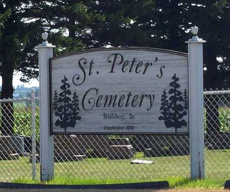ST. PETER'S EVANGELICAL CHURCH, CEMETERY - Grundy County, Iowa | CEMETERY ST. PETER'S EVANGELICAL CHURCH