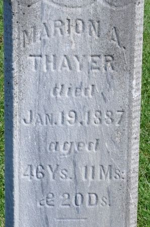 THAYER, MARION A. - Grundy County, Iowa | MARION A. THAYER