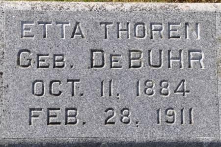 THOREN, ETTA (DEBUHR) - Grundy County, Iowa   ETTA (DEBUHR) THOREN