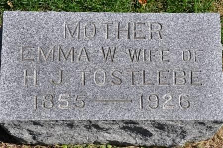 TOSTLEBE, EMMA W. - Grundy County, Iowa | EMMA W. TOSTLEBE