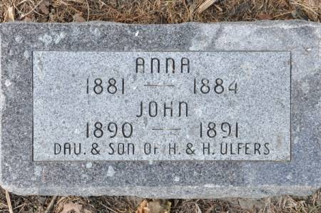 ULFERS, JOHN - Grundy County, Iowa   JOHN ULFERS