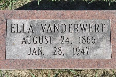 VANDERWERF, ELLA - Grundy County, Iowa   ELLA VANDERWERF