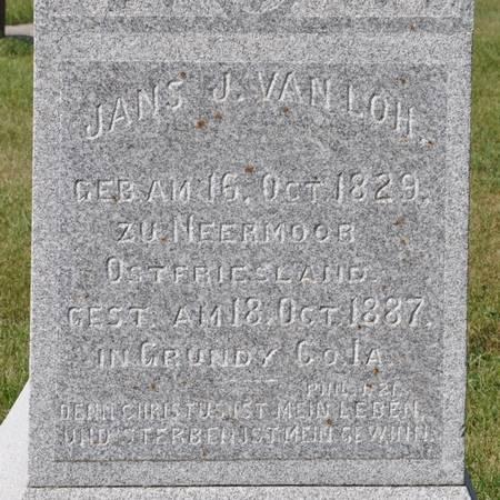 VANLOH, JANS J. - Grundy County, Iowa | JANS J. VANLOH