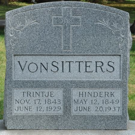 VONSITTERS, TRINTJE - Grundy County, Iowa | TRINTJE VONSITTERS