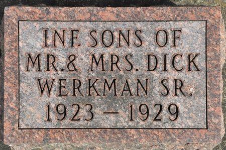 WERKMAN, INFANT SONS OF MR. & MRS. DICK SR. - Grundy County, Iowa | INFANT SONS OF MR. & MRS. DICK SR. WERKMAN
