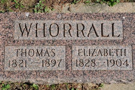 WHORRALL, ELIZABETH - Grundy County, Iowa   ELIZABETH WHORRALL