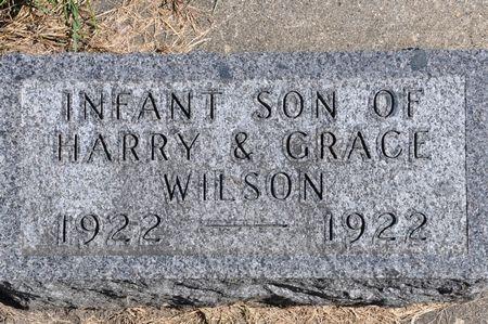 WILSON, INFANT SON OF HARRY & GRACE - Grundy County, Iowa | INFANT SON OF HARRY & GRACE WILSON