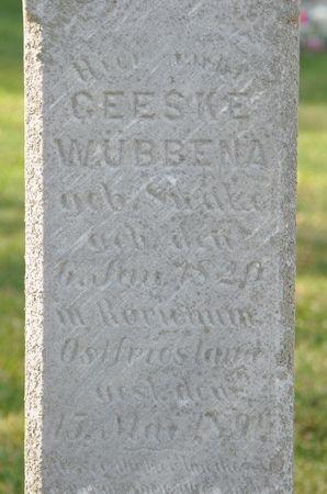 WUBBENA, GEESKE (SWALVE) - Grundy County, Iowa | GEESKE (SWALVE) WUBBENA