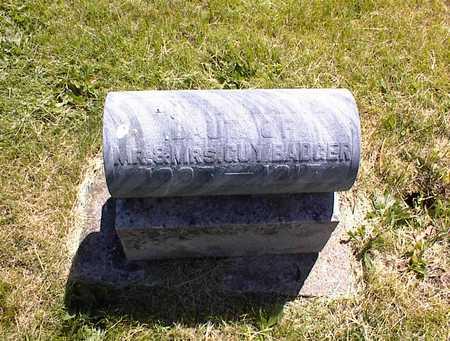 BADGER, HATTIE MARIE - Guthrie County, Iowa   HATTIE MARIE BADGER