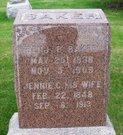 BAKER, JENNIE C. - Guthrie County, Iowa | JENNIE C. BAKER