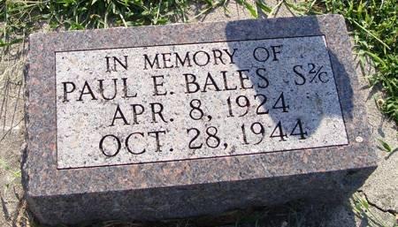BALES, PAUL E - Guthrie County, Iowa | PAUL E BALES