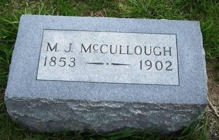 MCCULLOUGH, M. J. - Guthrie County, Iowa | M. J. MCCULLOUGH