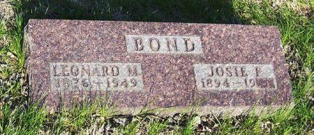 BOND, JOSIE F. - Guthrie County, Iowa   JOSIE F. BOND