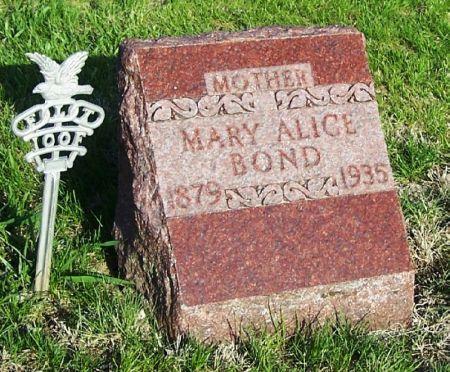 BOND, MARY ALICE - Guthrie County, Iowa   MARY ALICE BOND