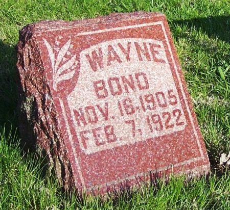 BOND, WAYNE - Guthrie County, Iowa | WAYNE BOND
