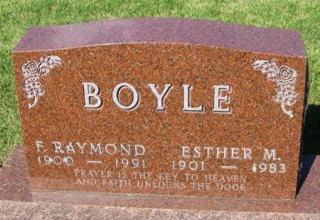 BOYLE, ESTHER M. - Guthrie County, Iowa | ESTHER M. BOYLE