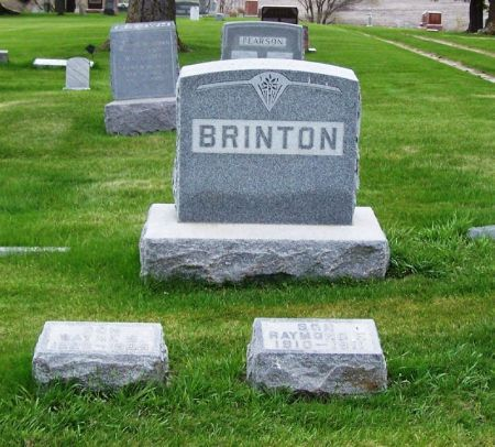BRINTON, BURR B. FAMILY STONE - Guthrie County, Iowa | BURR B. FAMILY STONE BRINTON
