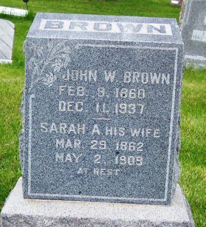 BROWN, SARAH A. - Guthrie County, Iowa | SARAH A. BROWN