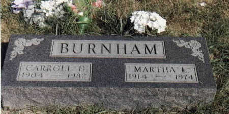 BURNHAM, MARTHA L - Guthrie County, Iowa | MARTHA L BURNHAM