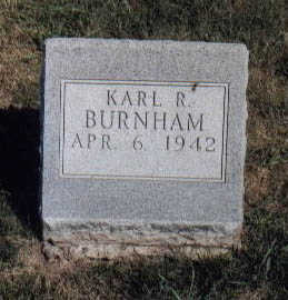 BURNHAM, KARL R - Guthrie County, Iowa | KARL R BURNHAM