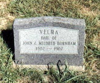 BURNHAM, VELMA - Guthrie County, Iowa | VELMA BURNHAM