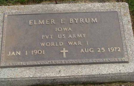 BYRUM, ELMER E. - Guthrie County, Iowa   ELMER E. BYRUM