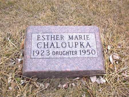 CHALOUPKA, ESTHER MARIE - Guthrie County, Iowa | ESTHER MARIE CHALOUPKA