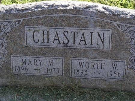 CHASTAIN, WORTH W - Guthrie County, Iowa | WORTH W CHASTAIN